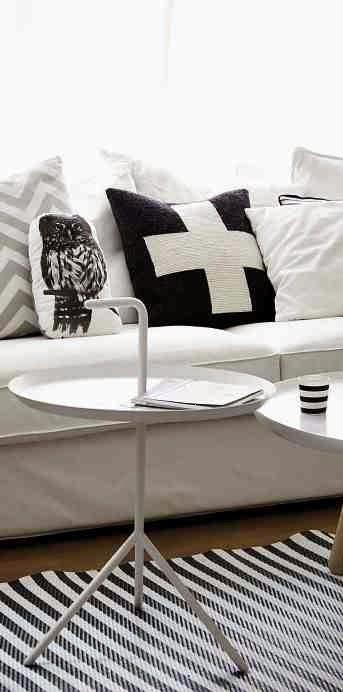 Poduszka z sową, poduszka z krzyzykiem, skandynawska aranżacja, skandynawskie dekoracje