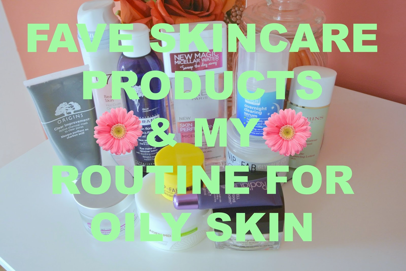 Skincare products for oily skin