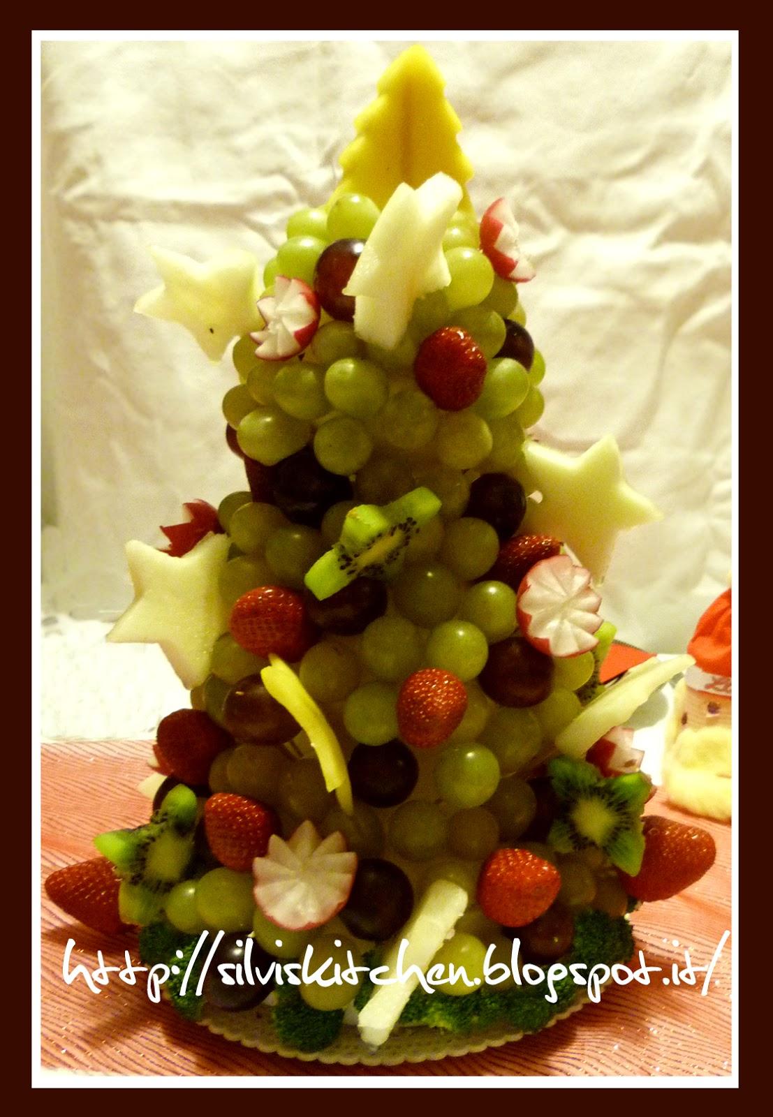 Buffet di dolci natalizi : Silvis kitchen: centrotavola natalizio albero di natale di frutta