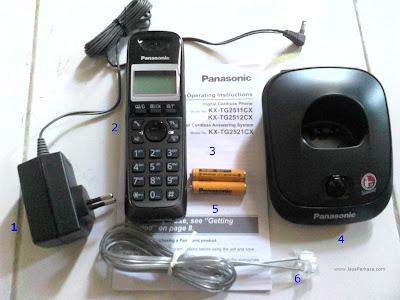 Jual Telepon Rumah Wireless Panasonic KX-TG2511 Denpasar Bali
