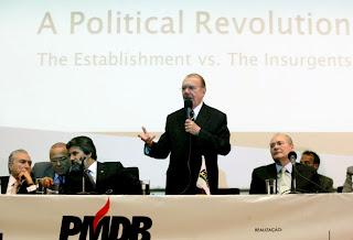 Michel Temer, Eliseu Padilha, Valdir Raupp, José Sarnei e Renan Calheiros - Workshop Internacional PMDB