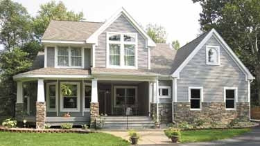 But then there is the pull of a slightly darker gray with the brown roof.