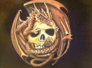 Tuto skull et dragon  aerographe par bysoairdisign