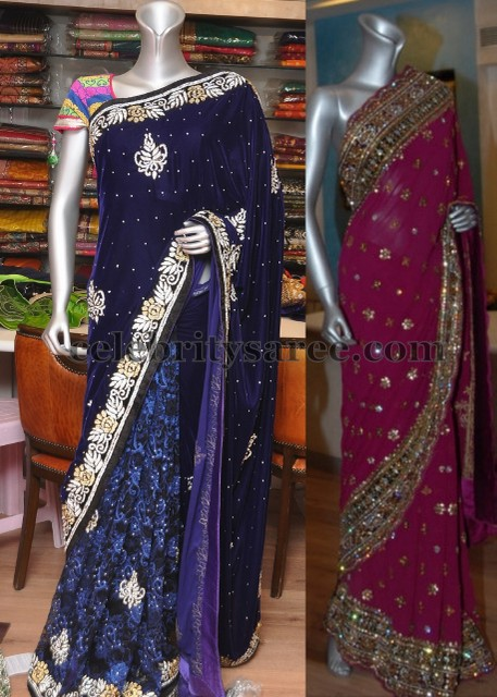 Latest Sarees for Reception