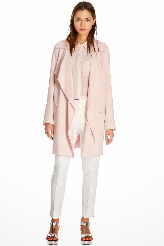 pink waterfall coat