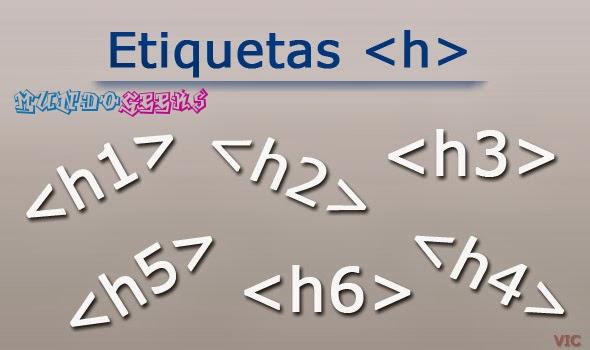 etiquetas de encabezado h1 html