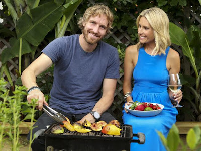 TV meteorologist Magdalena Roze and Three Blue Ducks chef Darren Robertson holiday in the Maldives