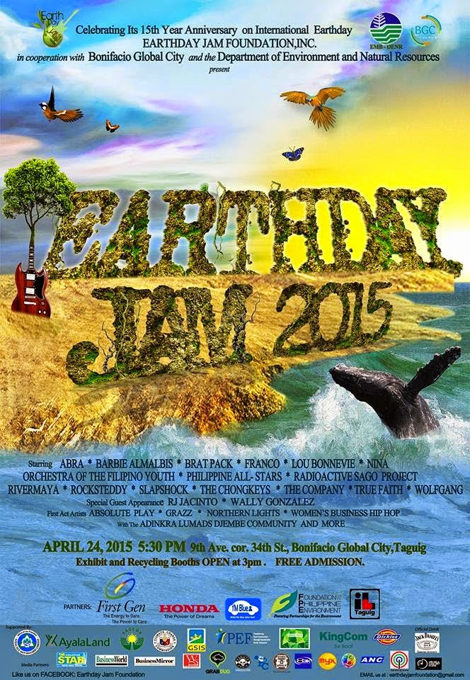 Earth Day Jam Philippines 2015: 15 Years Music Festival Rock the Mother Earth