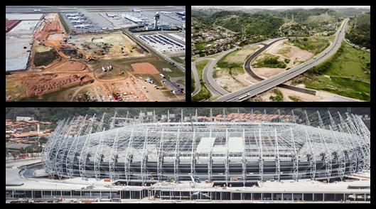 Veja como estão as obras para a Copa de 2014 no Brasil