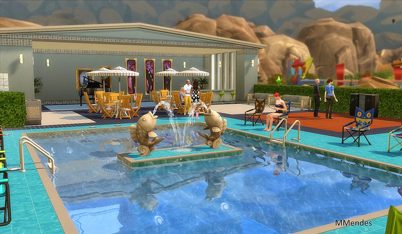 Artes cria es de maria mendes piscina the sims 4 for Piscina sims 4