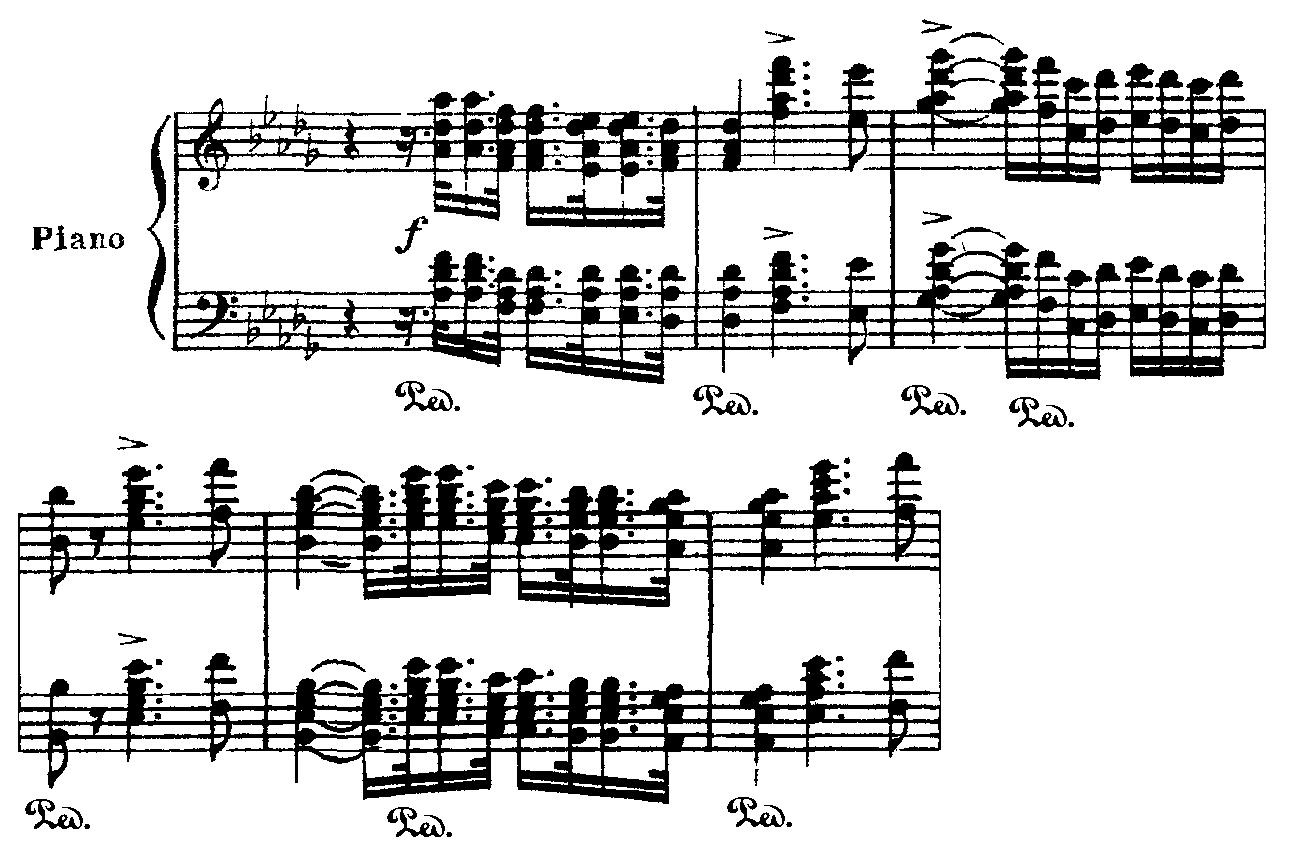 The music salon concerto guide tchaikovsky piano concerto no 1 says that one of the most prominent differences between the original and final versions is that in the opening section the octave chords played by the hexwebz Gallery