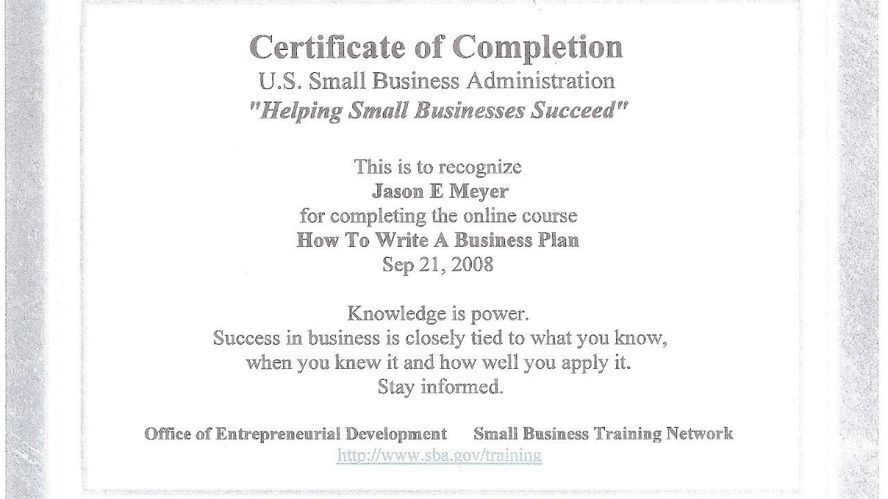 Business Certificates Online Business Choices
