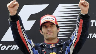 mark webber on the podium at f1 aust gp