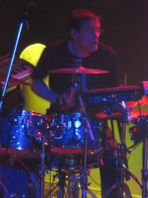 Stephen Morris performing on drums and keyboards for Toronto New Order fans.