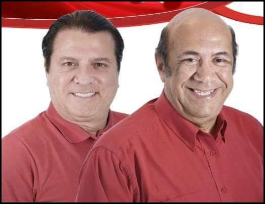 Eduardo Farias Vice-prefeito e Reginaldo Morais :prefeito de Cortês
