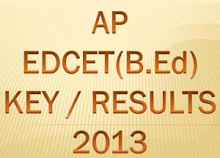 AP B.Ed Entrance Exam Answer Key 2013