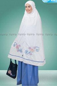 Faira Mukena MS 28 - Putih Biru (Toko Jilbab dan Busana Muslimah Terbaru)