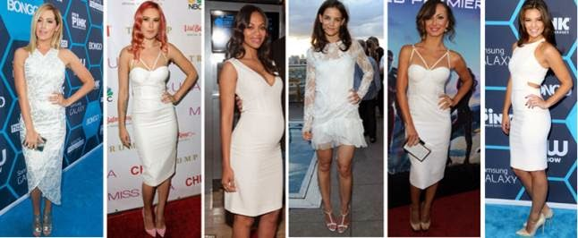 celebs wearing white dresses
