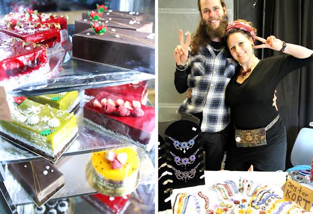 Vegansk Julefestival 2015 Fristelse Cafe Veganske Kaker Mira Smuleh Smykker