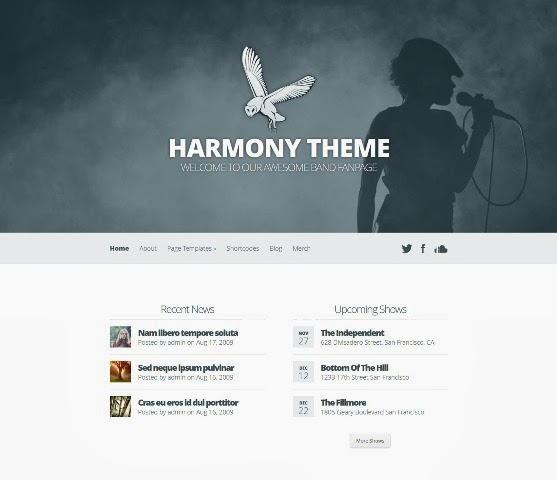 Harmony Band & Music WordPress Theme