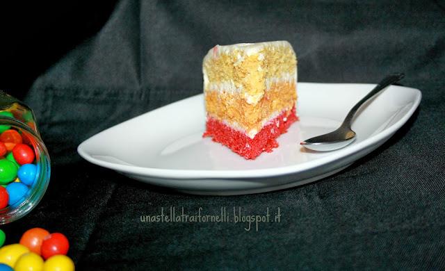 la famosa rainbow cake a soli 3 strati