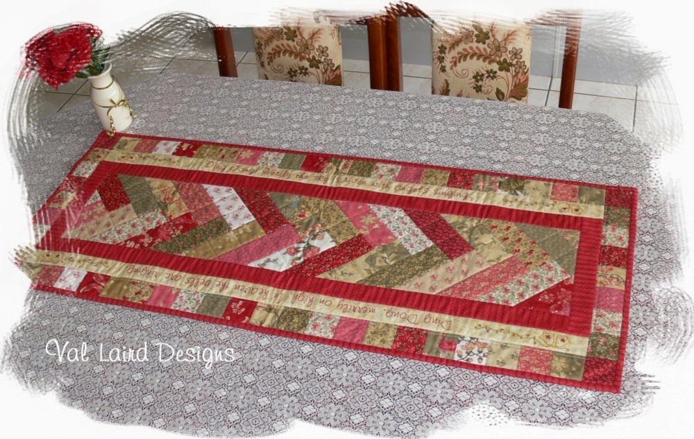 Val laird designs journey of a stitcher free block of for Table runner quilt design