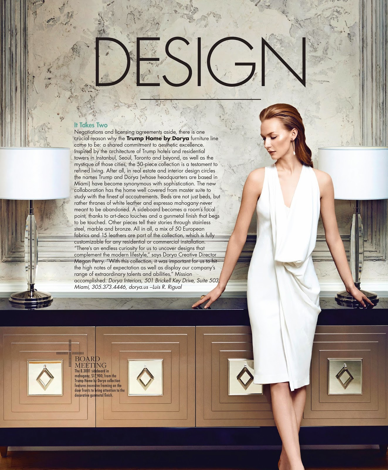 Dorya Interiors Modern Luxury Miami Magazine Features Trump Home