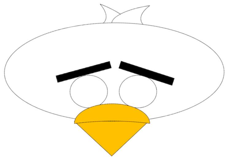 Plantilla de máscara de Angry Bird.