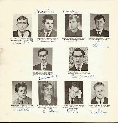 Jugadores participantes en el VIII Campeonato Mundial Juvenil de Ajedrez 1965 (1)