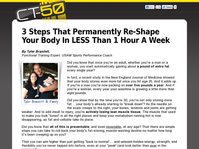 CT-50 Fitness & Fat Loss Review