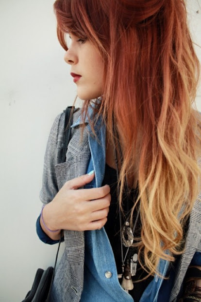 fanciful freckles ombre hair trend