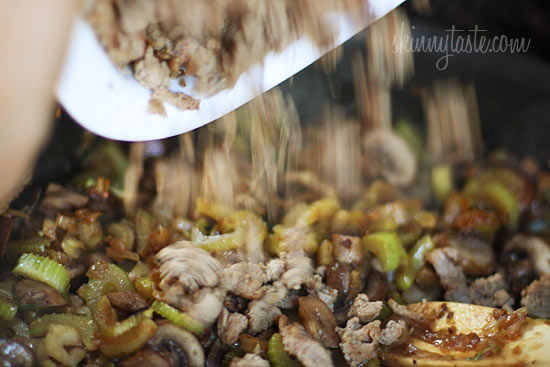 Chicken Sausage Brown Rice Stuffing with Celery and ...