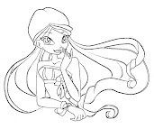 #7 Stella Coloring Page