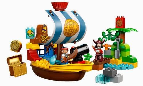 TOYS : JUGUETES - LEGO Duplo : Disney 10514 Jake y los piratas : Bucky, el Barco Pirata de Jake Producto Oficial | Edad: 2-5 años