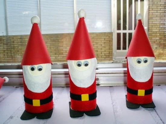 Papa Noel con Materiales Reciclados