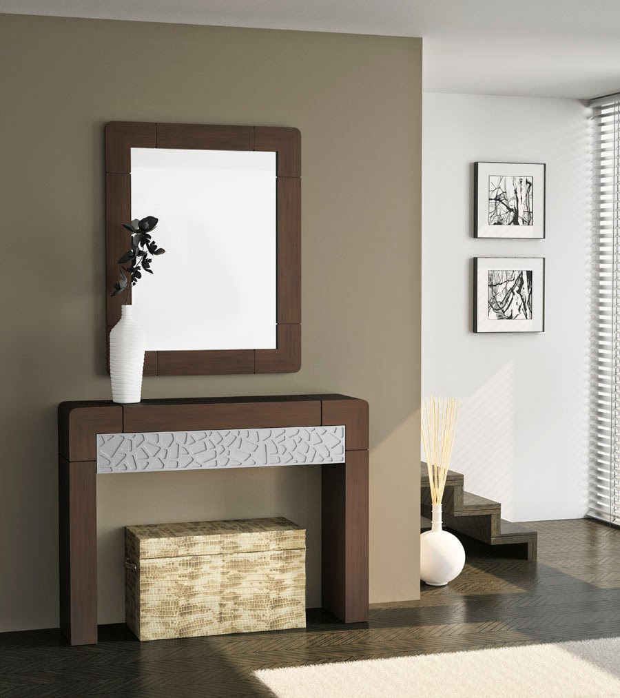 Muebles recibidor pasillos y escaleras decoraci n de - Muebles de entrada pequenos ...