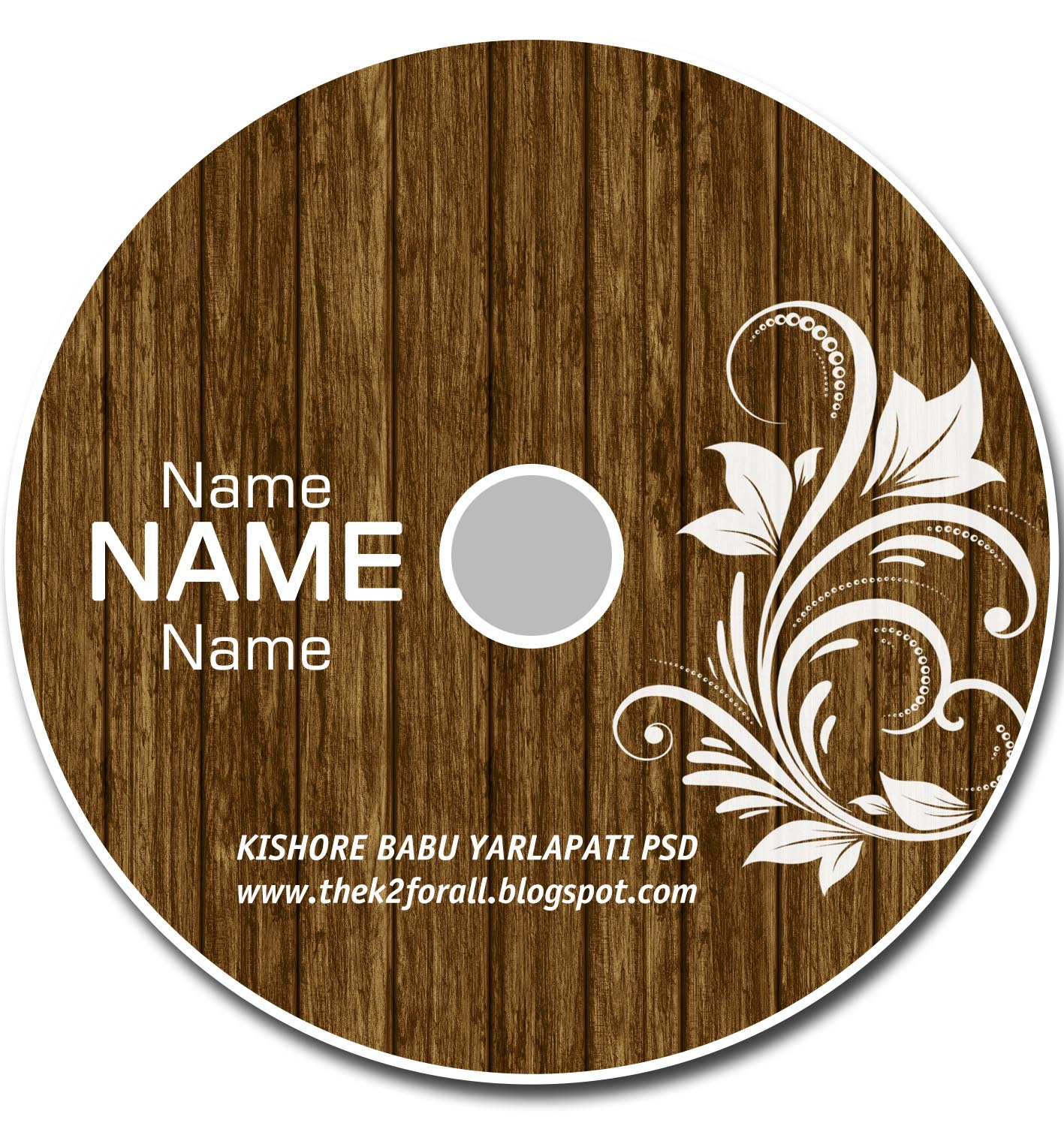 photoshop cd template