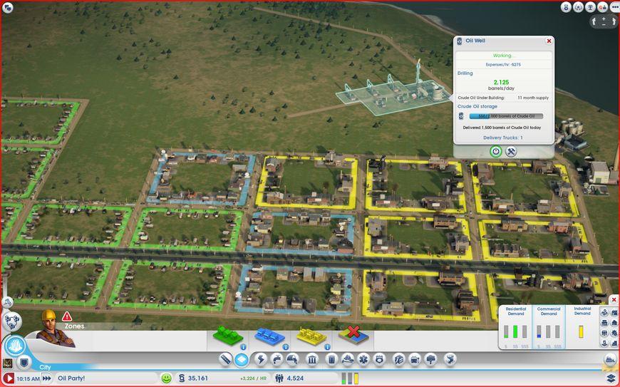 Планирование территории города - промышленные и жилые районы