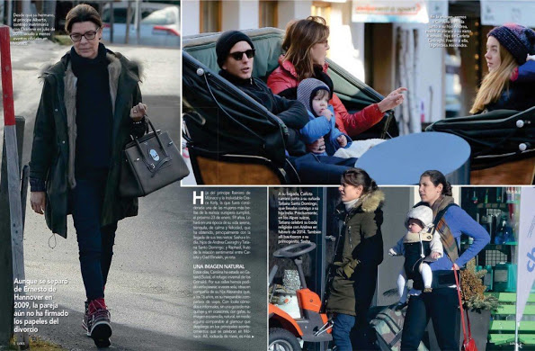 Princess Caroline And Her Family On Holiday In Gstaad, Switzerland