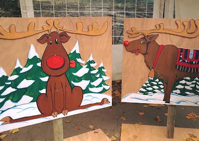 Peintures mises en place pour la Kermesse de Noël - Guillaume Néel ©