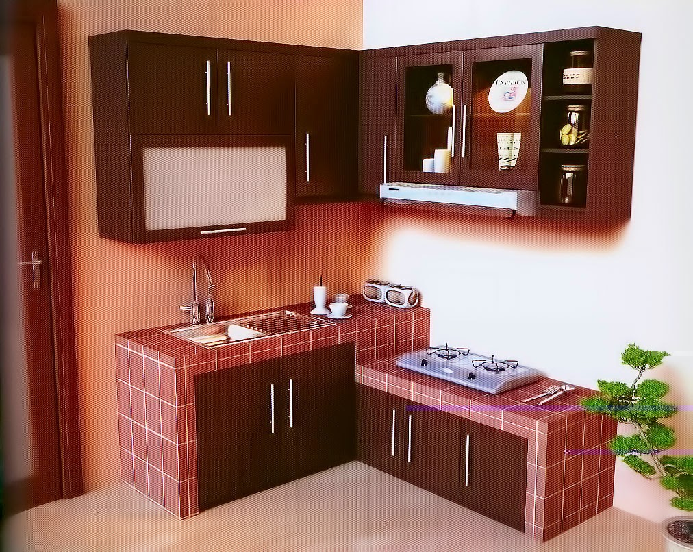 Dapur merah minimalis design, dapur minimalis