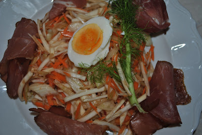salata de telina, mar, morcov, fenicul