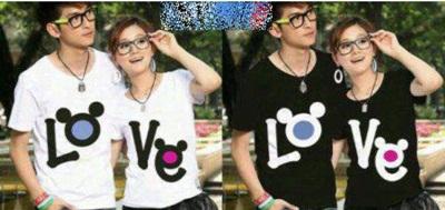 Jual Kaos Love Kuping Couple Online Murah di Jakarta Lengan Pendek Trendy