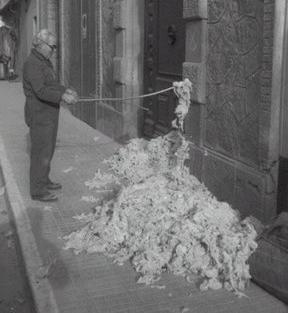 lana, colchonero, almohada, colchon