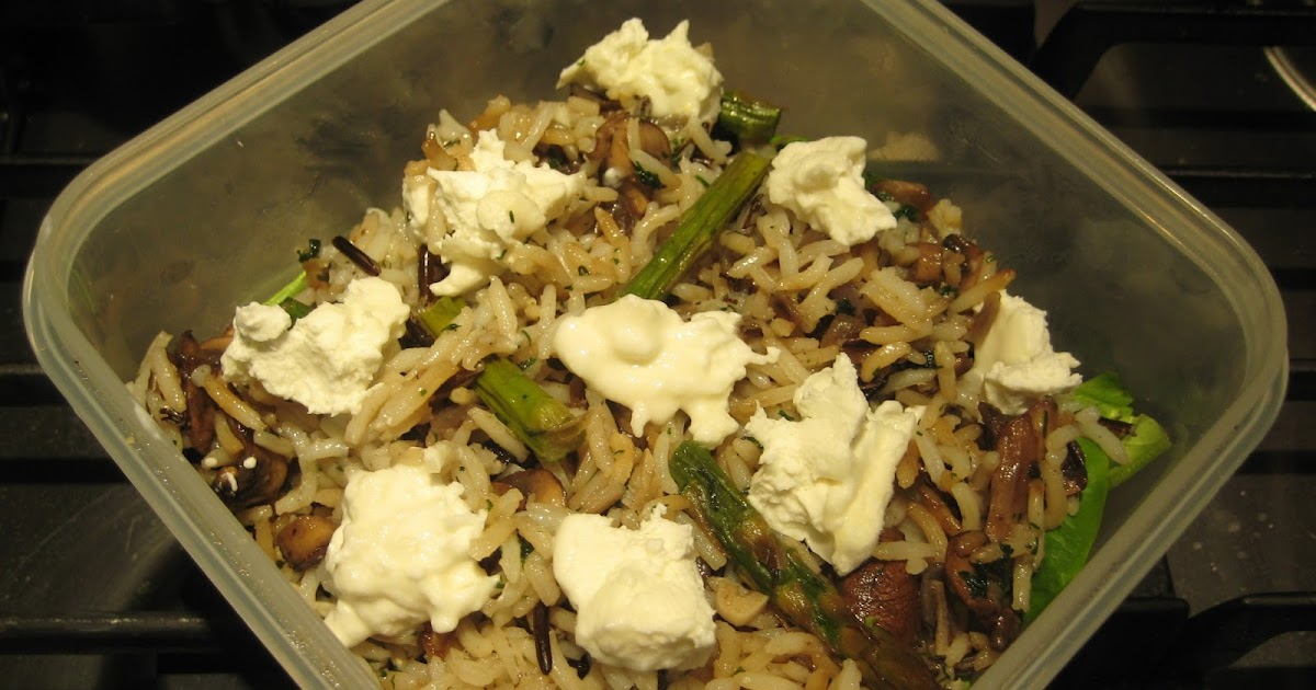 ... Cheese: Mushroom, Roasted Asparagus and Wild Rice Salad with Goat's
