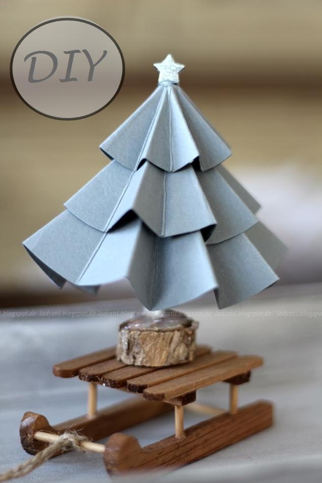 DIY Origami Tannenbaum aus Papier