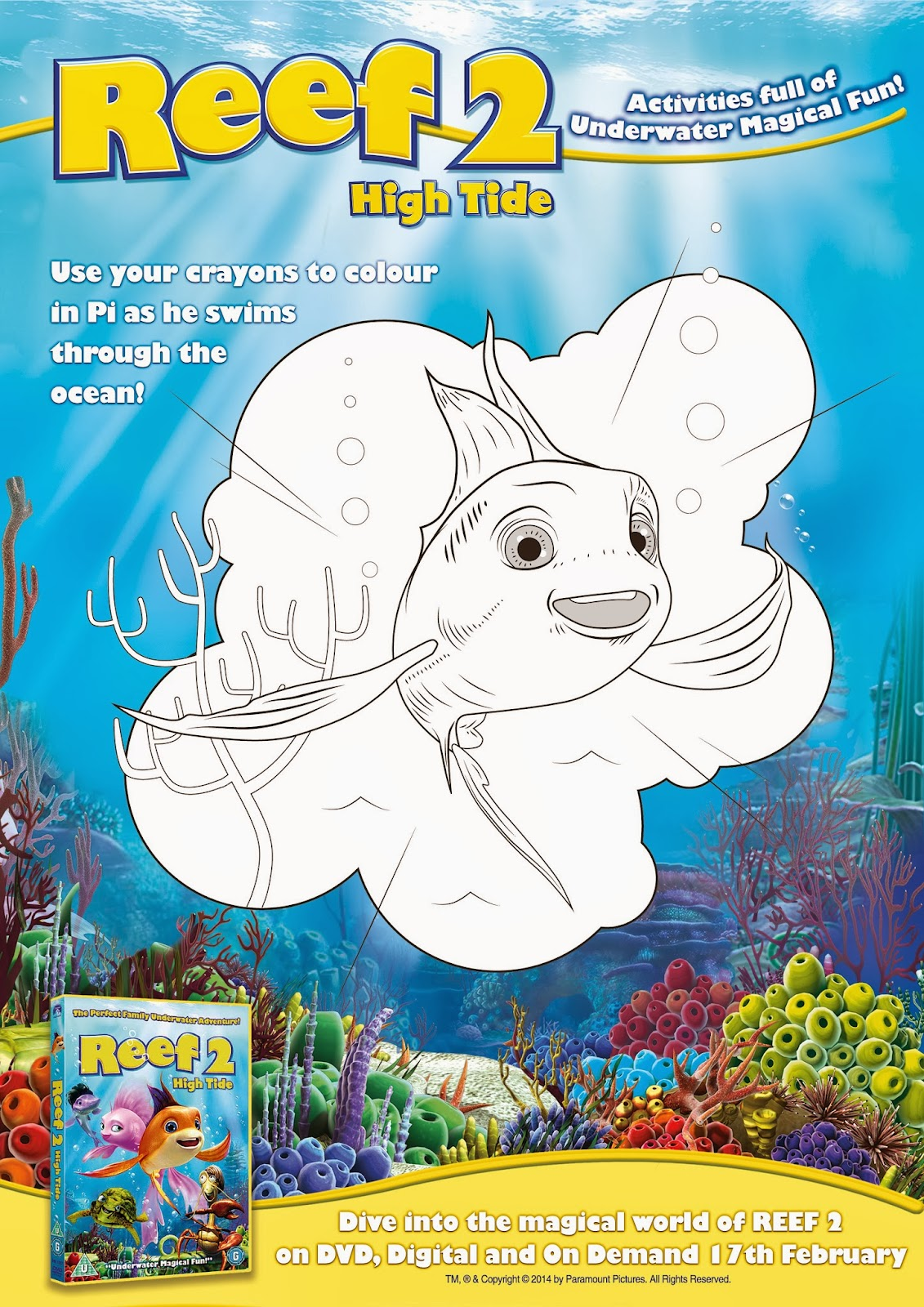 Reef 2, High Tide, Review, DVD, Film, free, printable, activity, sheet