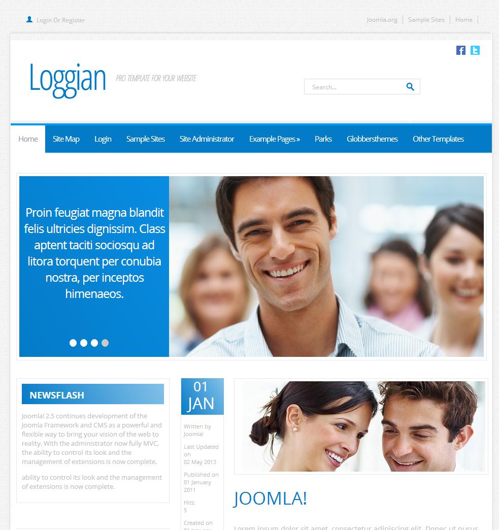 Loggian 2 Free Joomla Template