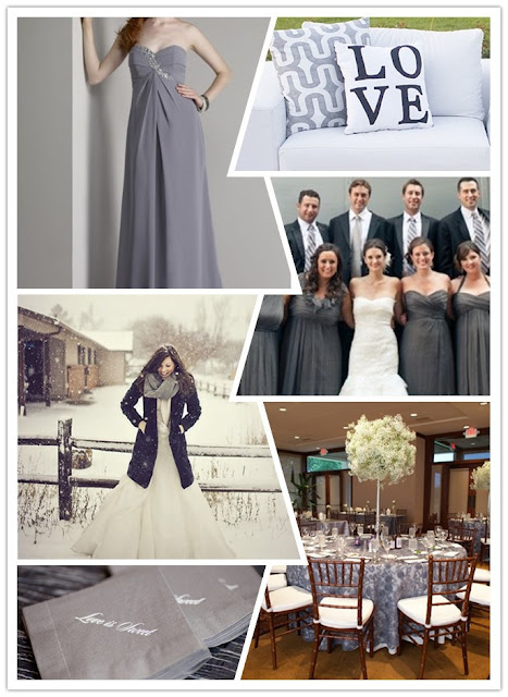 grey winter wedding theme