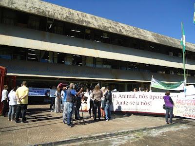 manifestação em londrina pelos direitos dos animais